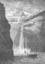 NORWAY. Geiranger Fjord, with the Seven Sisters fall 1893 old antique print